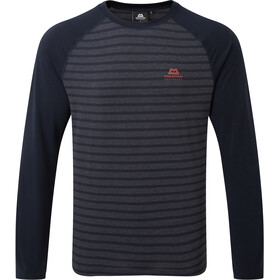 Mountain Equipment Redline LS Tee Herre cosmos stripe/cosmos